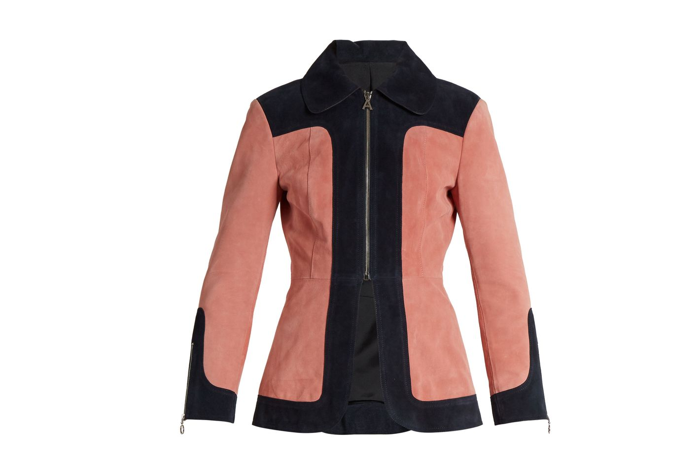 ALEXACHUNG Color Block Suede Jacket