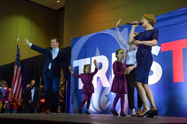 Ted Cruz, Ted Cruz's family, and Carly Fiorina