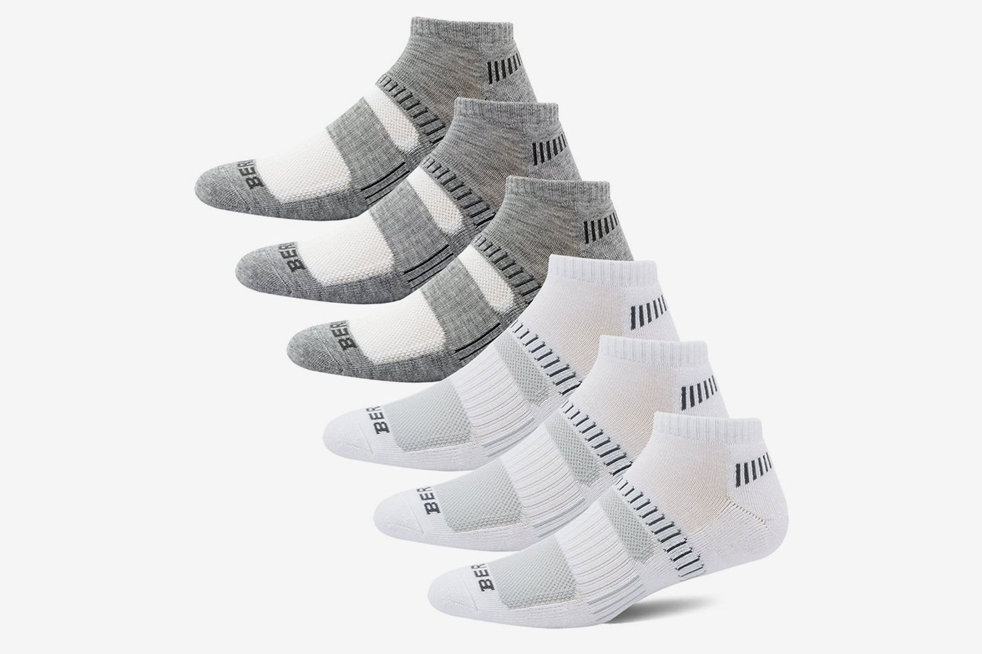 Bering Men's Performance Athletic Low Cut Running Socks (6 Pair Pack)