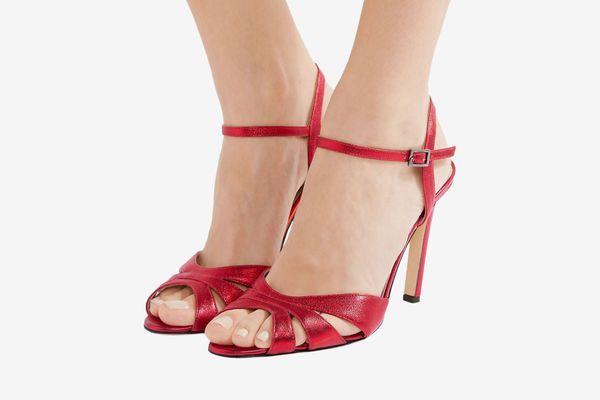 SJP by Sarah Jessica Parker Westminster cutout metallic leather sandals