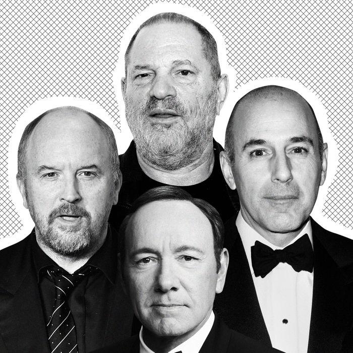Harvey Weinstein, Matt Lauer, Kevin Spacey and Louis C.K.