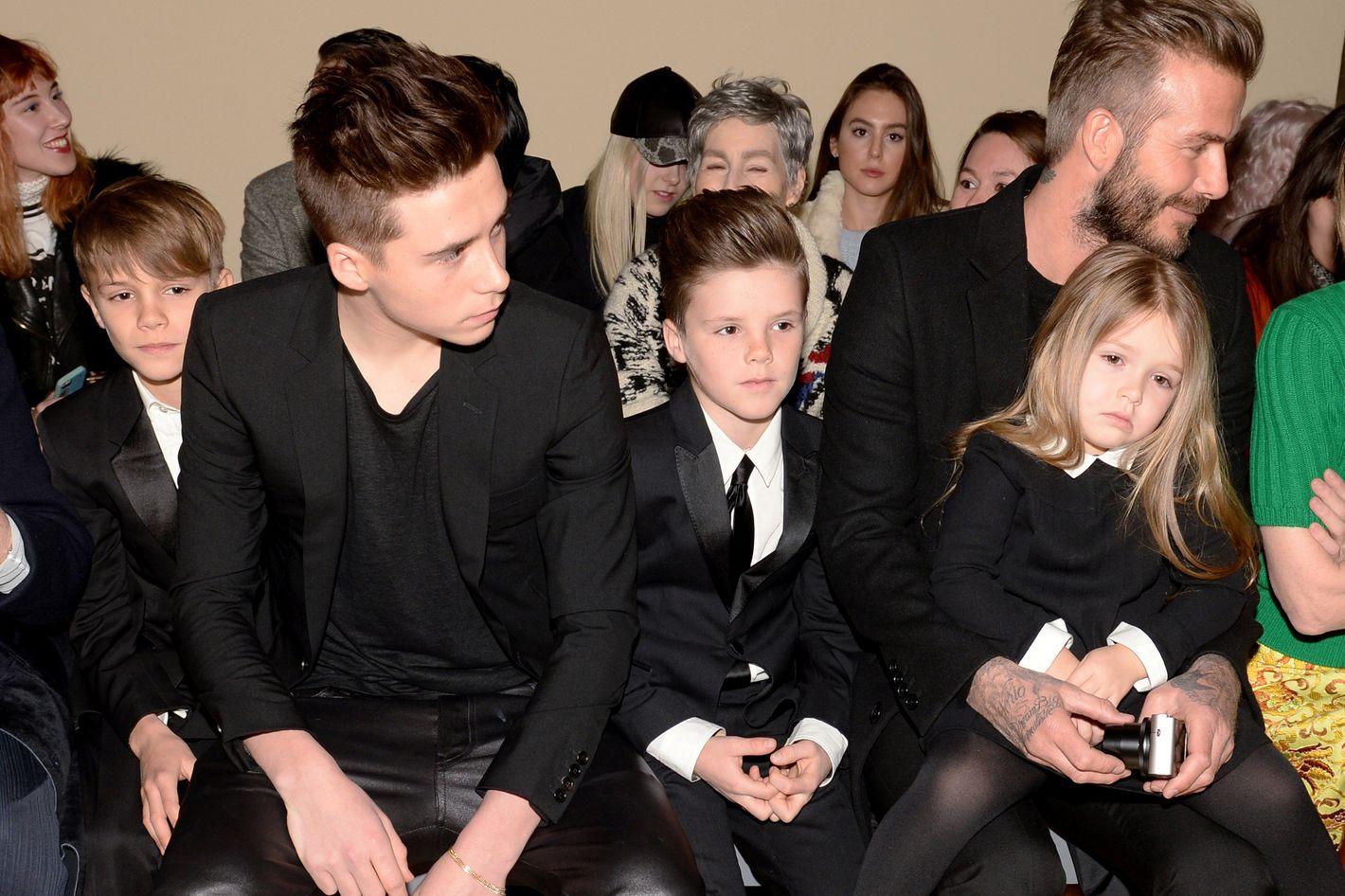 Семья бекхэм с детьми фото