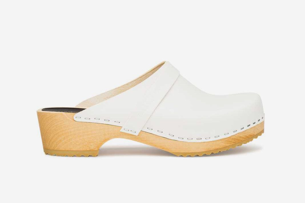Swedish Hasbeens Husband Clogs, White