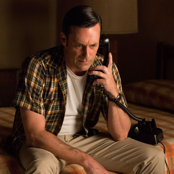 Jon Hamm as Don Draper - Mad Men _ Season 7B, Episode 14 - Photo Credit: Michael Yarish/AMC