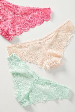 Anthropologie Lace Bikini Briefs Set (Plus)