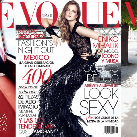 From left: Anna Jagodzinska, Eniko Mihalik, and Isabeli Fontana on the September covers of <em>Vogue</em> Mexico.