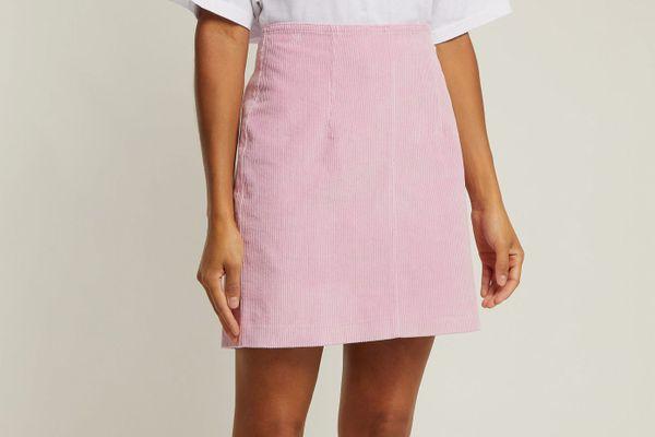 Staud Phoebe Corduroy Mini Skirt
