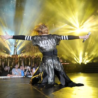 TEL AVIV, ISRAEL - MAY 31: Madonna performs on stage during her