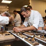 Chasseur, cooking in the Eleven Madison Park kitchen last year.