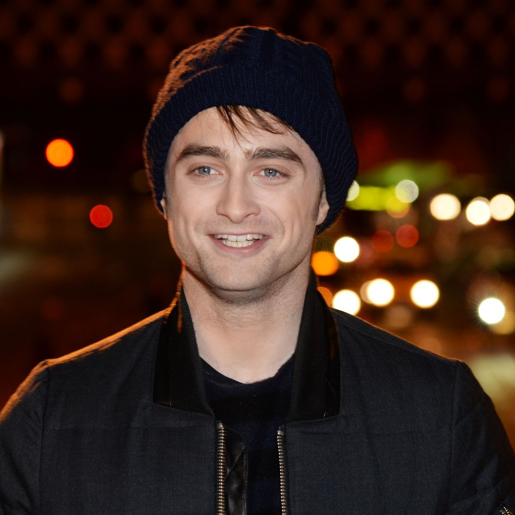 LONDON, ENGLAND - NOVEMBER 21:  Daniel Radcliffe attends a photocall to launch the 'Kill Your Darlings Cut Up Art Exhibition' at Waterloo Train Station on November 21, 2013 in London, England.  (Photo by Dave J Hogan/Getty Images)