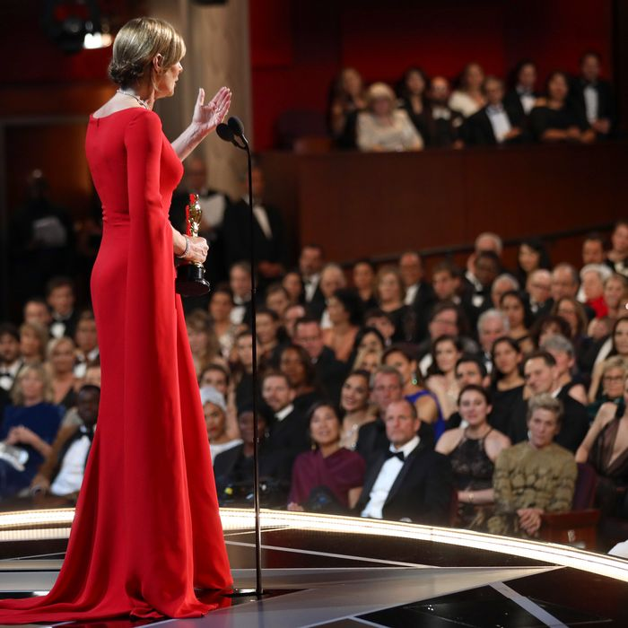 Allison Janney at the 2018 Academy Awards ceremony