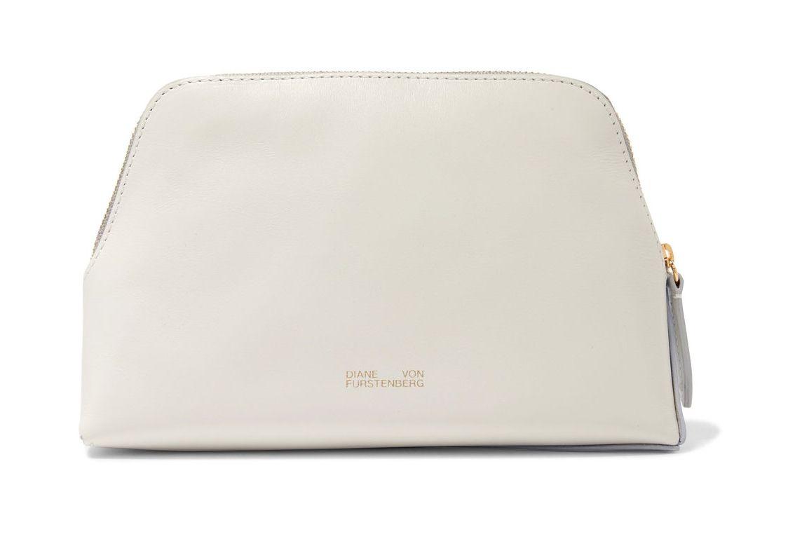 Diane von Furstenberg Two-tone leather cosmetics case