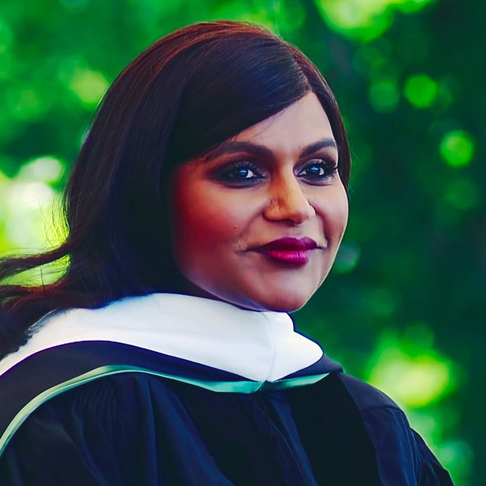 Mindy Kaling giving the Dartmouth commencement address.