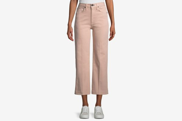 Rag & Bone/JEAN Justine High-Rise Wide-Leg Crop Jeans