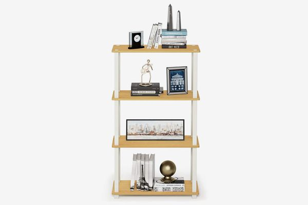Furinno Turn-S-Tube Compact Multipurpose Shelf With Square, 4-Tier