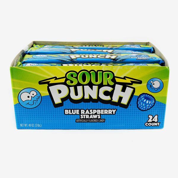 Sour Punch Straws in Blue Raspberry