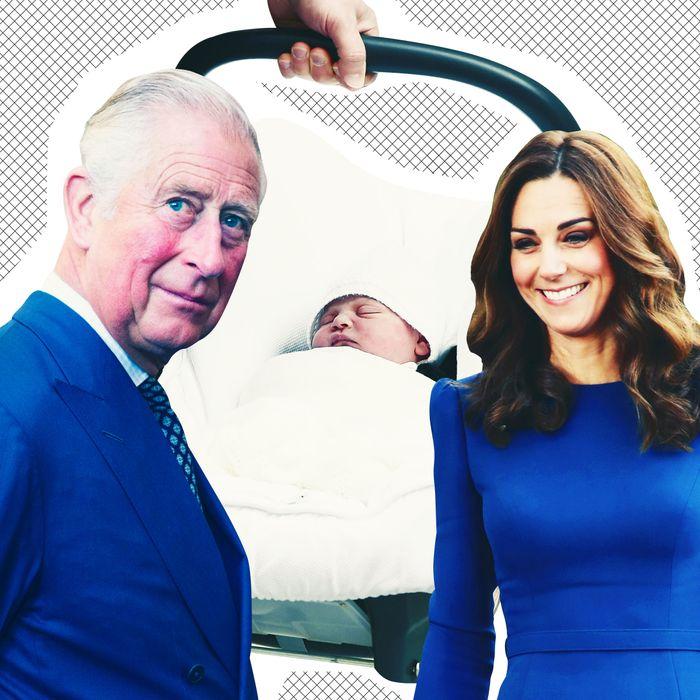 Prince Charles, Prince Louis, and Kate Middleton.
