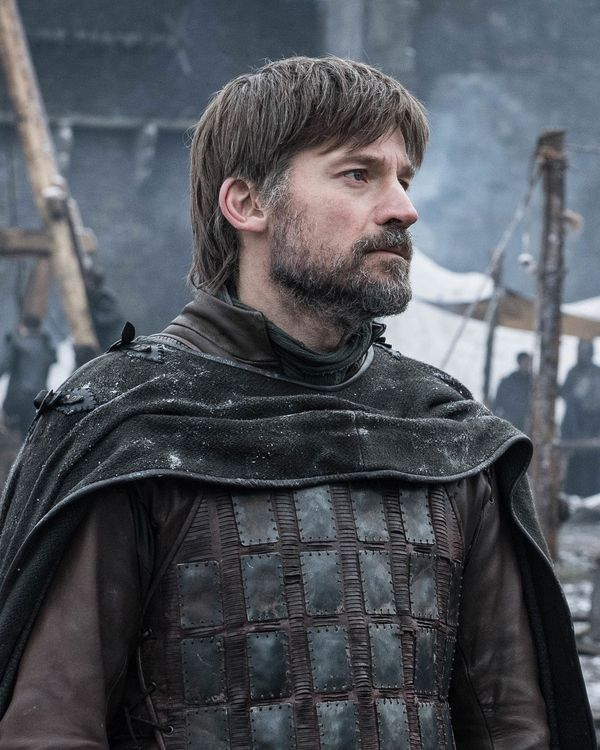 Jaime Lannister and his bowl cut.