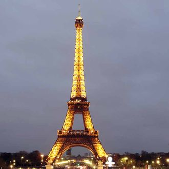 A picture taken on March 31,2012 shows the Eiffel Tower in Paris. AFP PHOTO / KENZO TRIBOUILLARD (Photo credit should read KENZO TRIBOUILLARD/AFP/Getty Images)