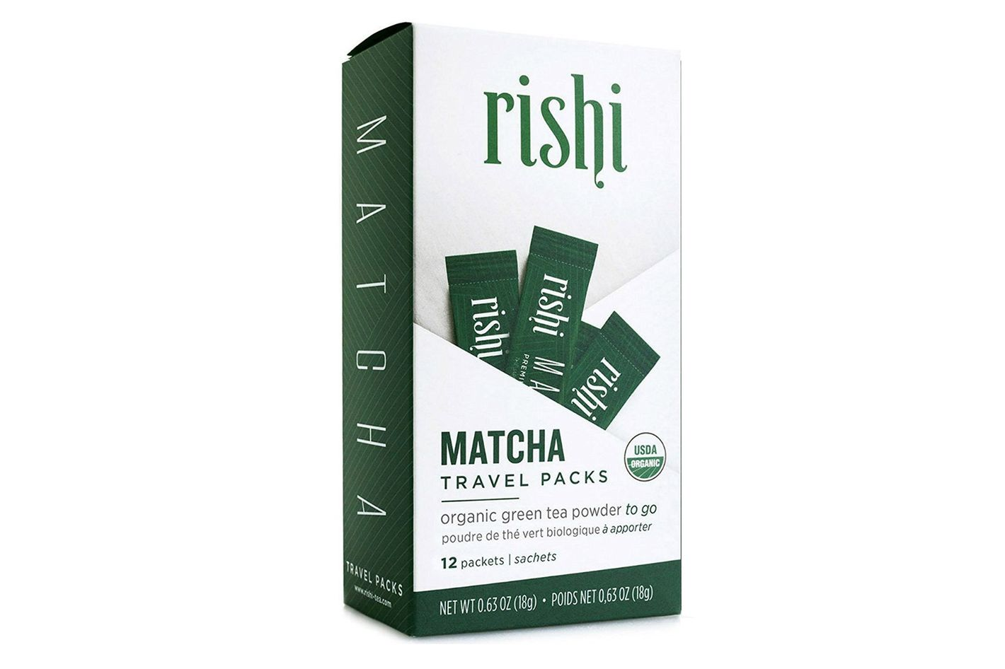 Rishi Tea Organic Matcha Japanese Green Tea Powder, 12 Travel Packets