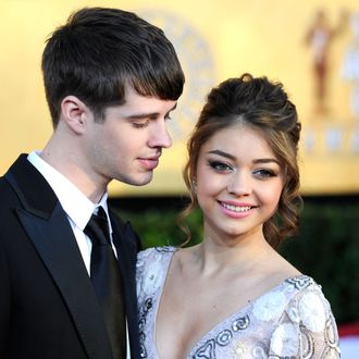 LOS ANGELES, CA - JANUARY 29: Matt Prokop and actress Sarah Hyland arrive at the 18th Annual Screen Actors Guild Awards at The Shrine Auditorium on January 29, 2012 in Los Angeles, California. (Photo by Frazer Harrison/Getty Images)