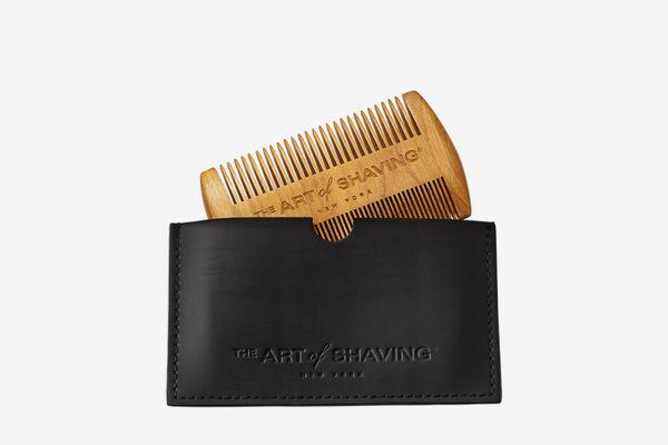 EQLEF® green sandalwood beard comb