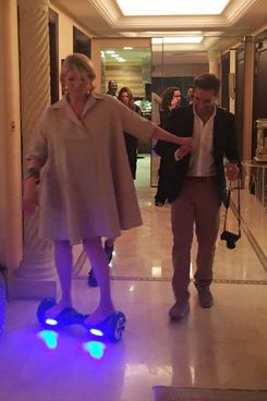 The hoverboarding goddess herself, Ms. Martha Stewart