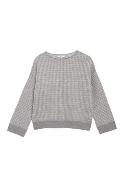 Vince Grid Textured Pullover Sweater