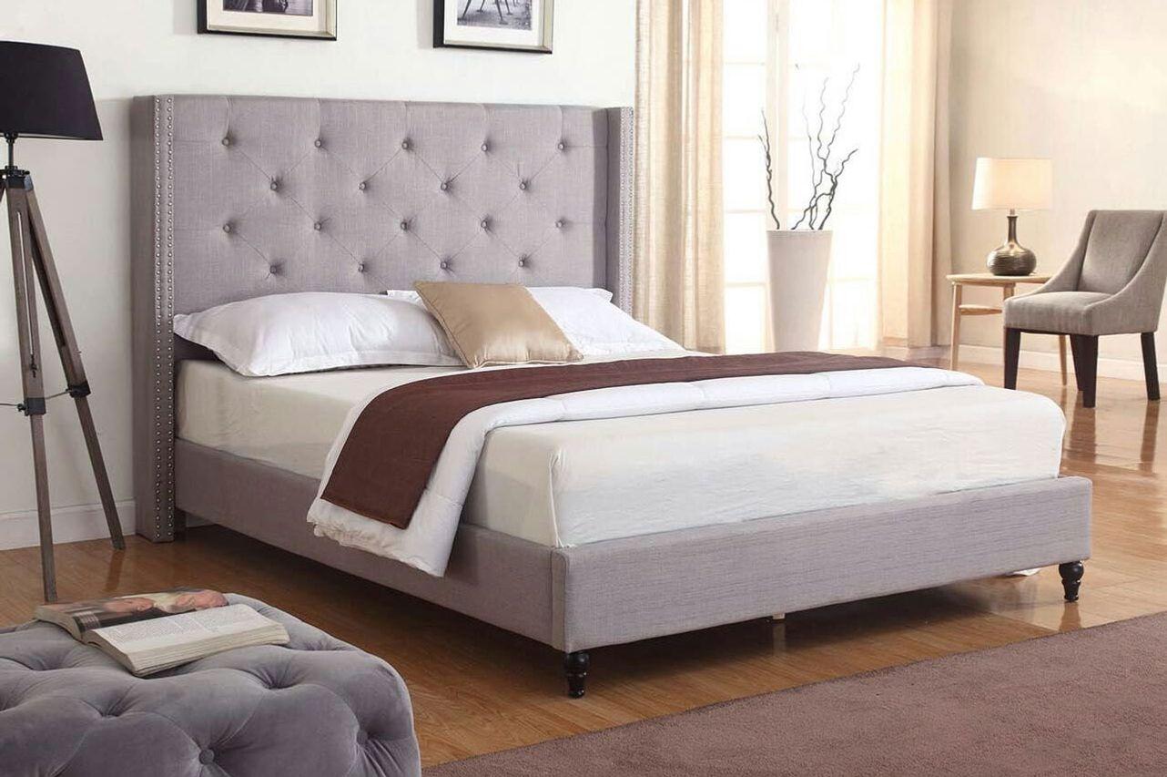 LIFE Home Premiere Classics Cloth Light Grey Silver Linen — Queen