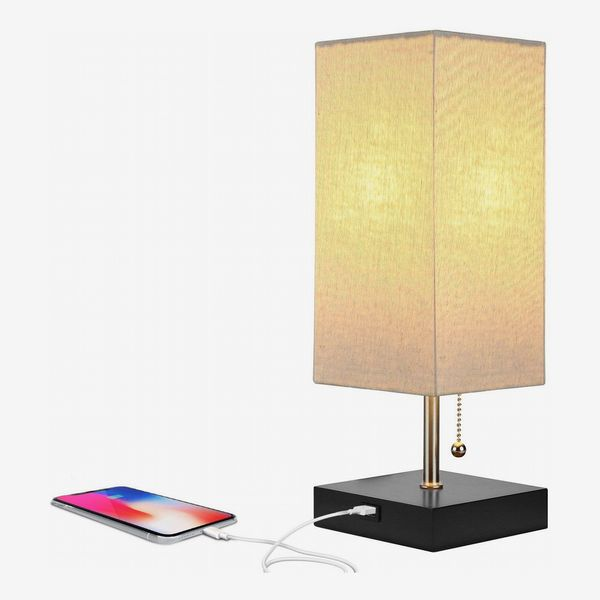 Brightech Grace LED USB Bedside Lamp