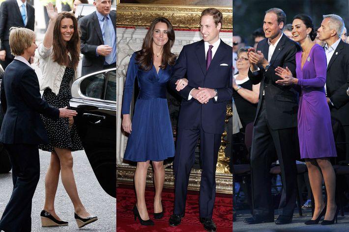 Kate Middleton in various Issa dresses.