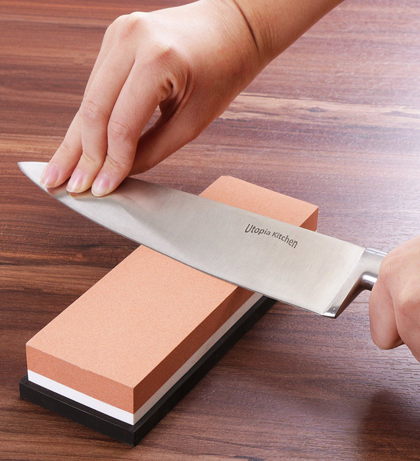 Double-Sided Knife Sharpening Stone Multi-Colored - 600/1000 Grit