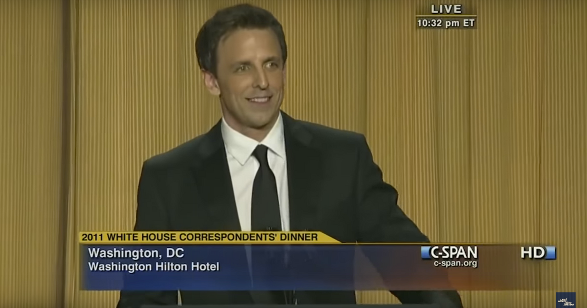 Watch Seth Meyers Roast Trump at the 2011 White House Correspondents ...