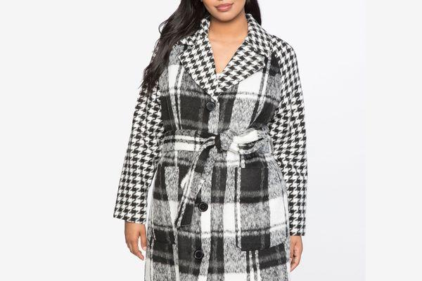 Print Block Coat