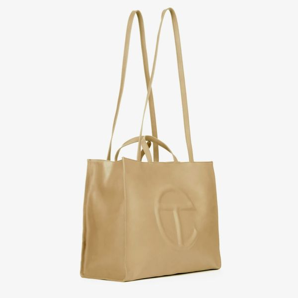 Telfar Large Cream Shopping Bag