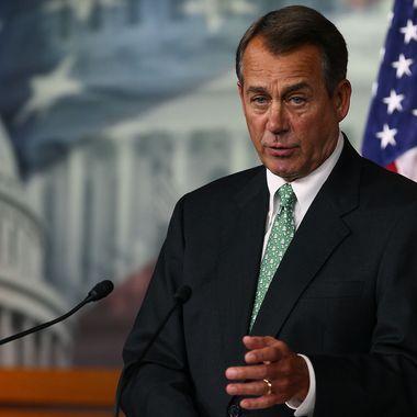 U.S. House Speaker John Boehner (R-OH) speaks during his weekly news conference on December 15, 2011.