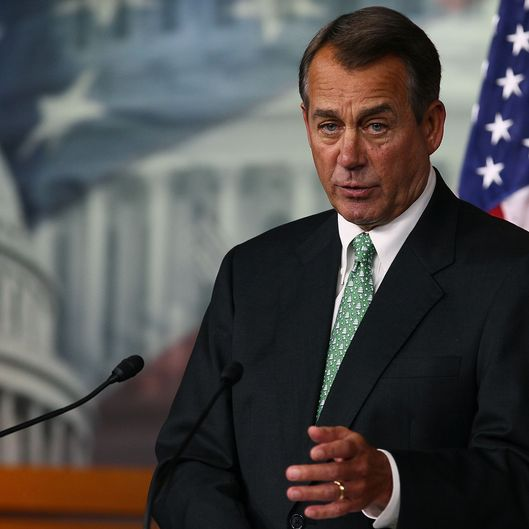 U.S. House Speaker John Boehner (R-OH) speaks during his weekly news conference on December 15, 2011.