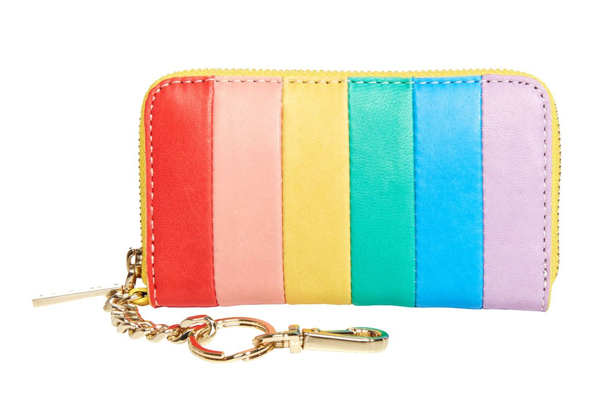 Alice + Olivia Avril Rainbow Leather Small Wallet