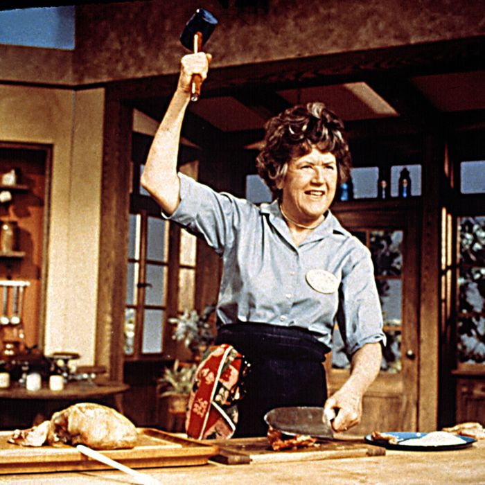 JULIA CHILD, circa 1970, from her TV show, THE FRENCH CHEF