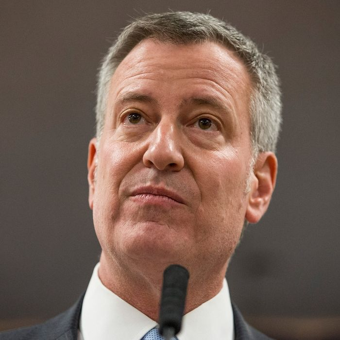 New York City Mayor Bill De Blasio Announces His Plan To Raise City's Minimum Wage