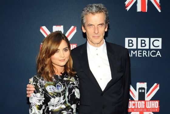 Jenna Coleman and Peter Capaldi at last week's BBC America fan screening in NYC.