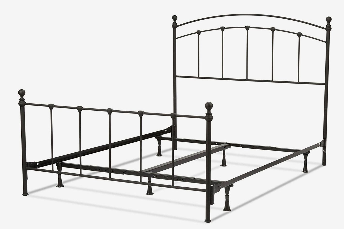 Fashion Bed Group Sanford Bed With Metal Panels and Round Finial Posts — Queen