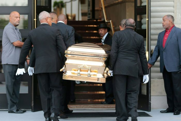 Aretha Franklin Funeral: Respects Paid With Public Viewing