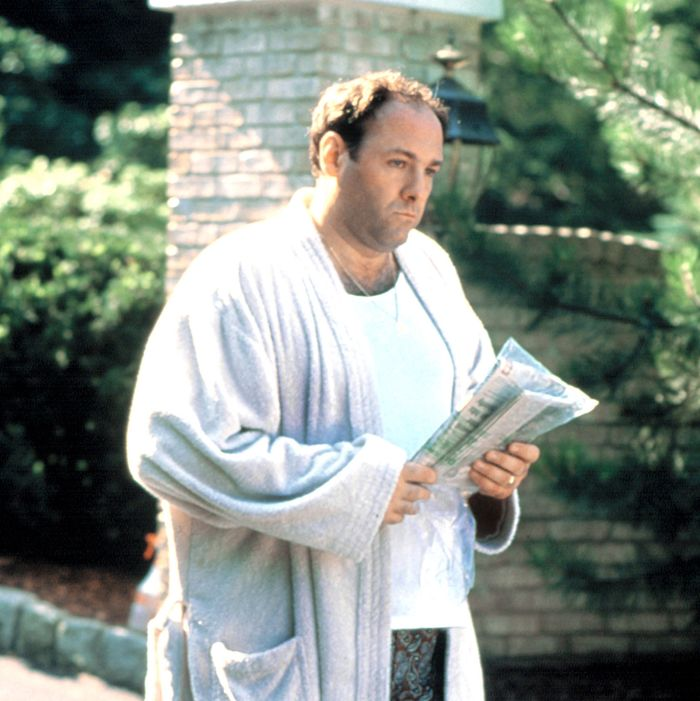 Tony Soprano in his bathrobe.
