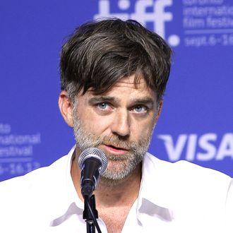 Director Paul Thomas Anderson speaks at