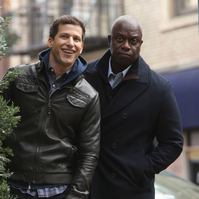 BROOKLYN NINE-NINE: Andy Samberg and Andre Braugher in the