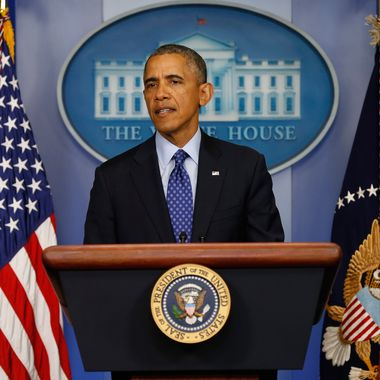 U.S. President Barack Obama speaks about Iraq in the Brady Briefing room of the White House on June 19, 2014 in Washington, DC. Obama spoke about the deteriorating situation as Islamic State in Iraq and Syria (ISIS) militants move toward Baghdad after taking control over northern Iraqi cities.
