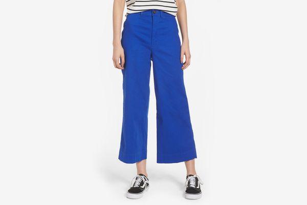 Madewell Emmet Crop Wide Leg Pants, Alpha Blue