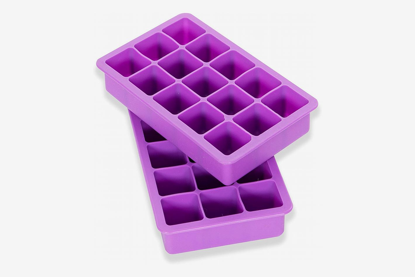 Elbee Home Set of 2 Silicone Ice Cube Trays
