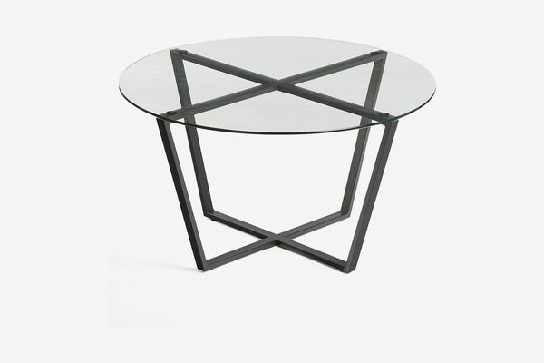 Metro Glass Coffee Table - Clear Top/Black Base